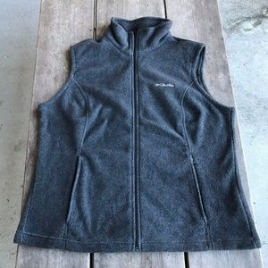 Columbia Benton Springs Full Zip Gray Fleece Vest